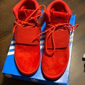 Brand new adidas sz youth 5 tubular invader red